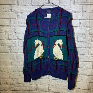 Woolrich vintage large duck goose sweater 2854